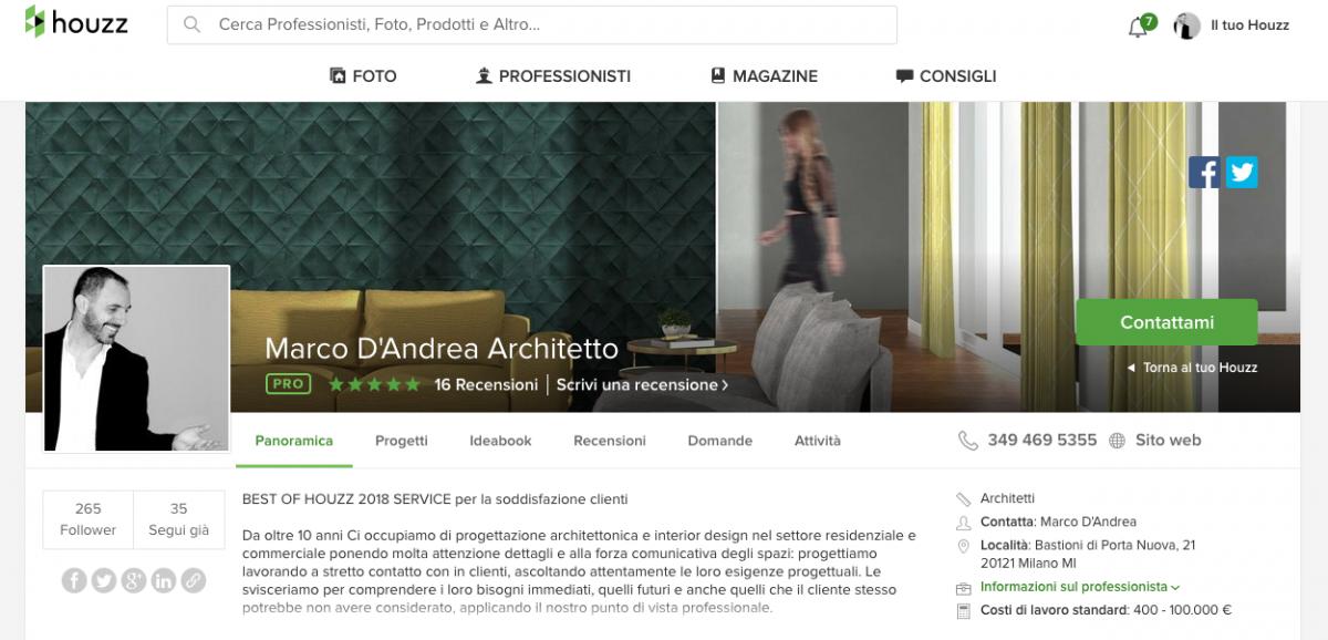 profilo houzz architetto Marco D'Andrea